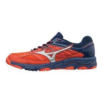 Zapatillas de trail hombre WAVE MUJIN 5 cherry tomato/silver/estate blue