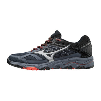 Chaussures de trail femme WAVE MUJIN 5 ombre blue/silver/hot coral