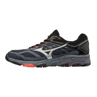 Mizuno WAVE MUJIN 5 - Trail Shoes - Women's - ombre blue/silver/hot coral