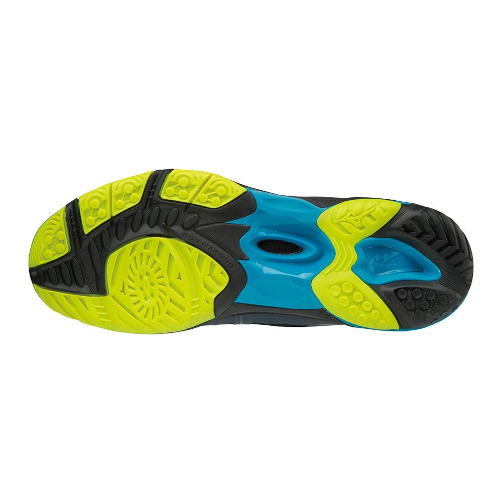 9a14ef0832c7e Zapatillas hombre WAVE HURRICANE 3 ombre blue safety yellow black ...