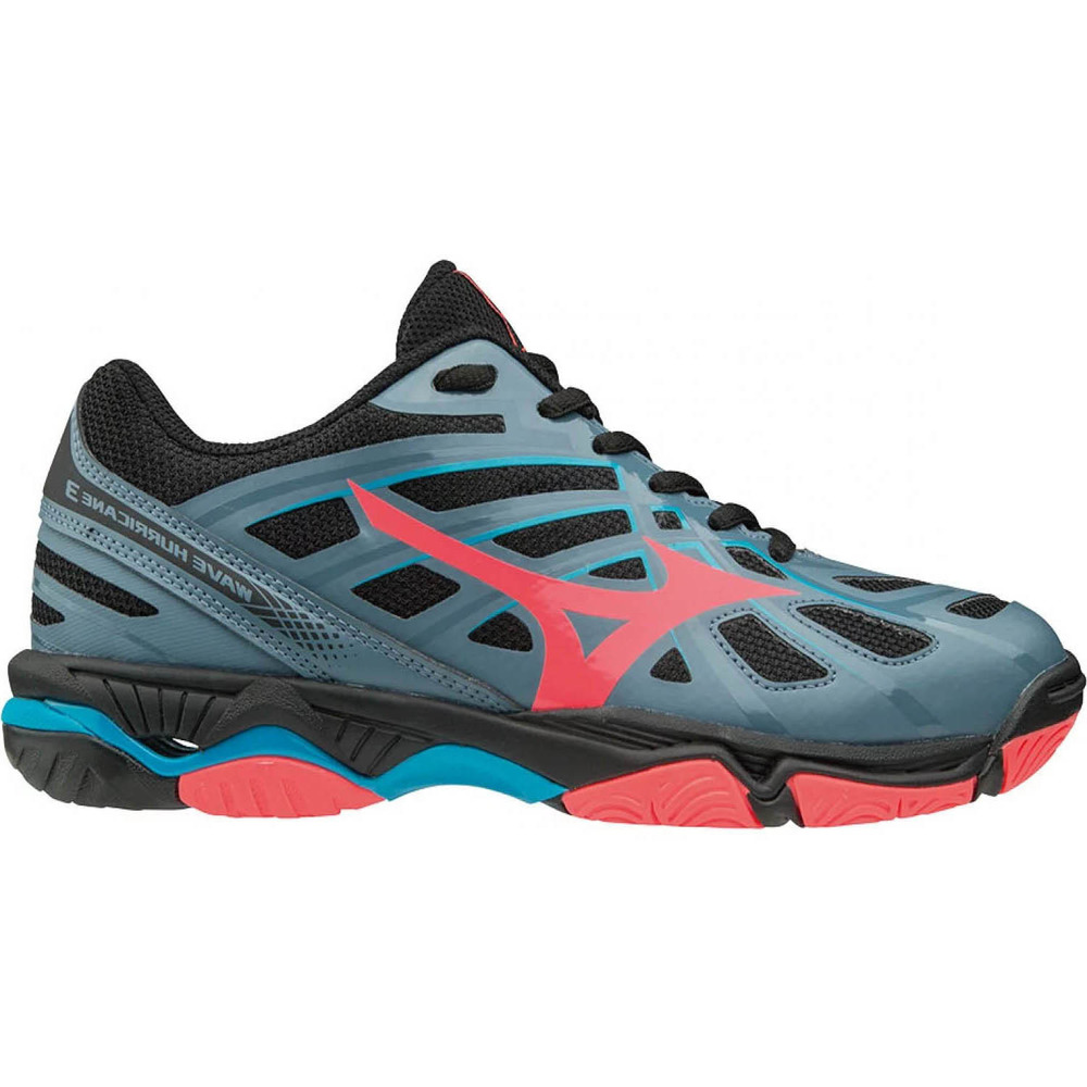 dcb303215744b Zapatillas mujer WAVE HURRICANE 3 blue mirage fiery coral black ...