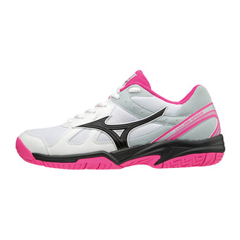 Mizuno CYCLONE SPEED - Chaussures volley Femme white/black/pink glo