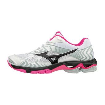 Mizuno WAVE BOLT 7 - Zapatillas de voleibol mujer white/black/pink glo