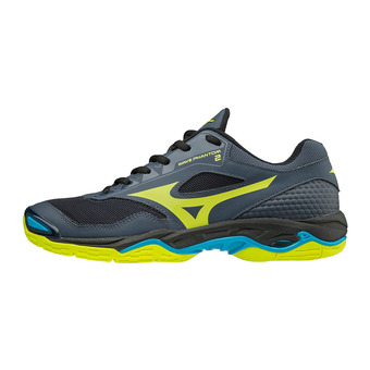 Mizuno WAVE PHANTOM 2 - Chaussures hand Homme ombre blue/safety yellow/black