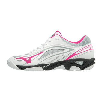 Zapatillas mujer WAVE GHOST white/pink glo/black