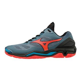 Zapatillas mujer WAVE STEALTH V blue mirage/fiery coral/black
