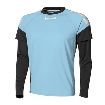 Hummel CHEVRONS - Camiseta hombre sky/black