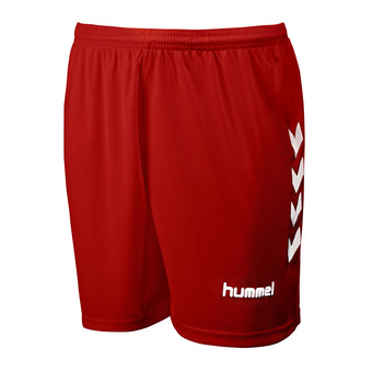 Hummel CHEVRONS - Short hombre red/white