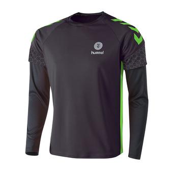Hummel CAMPAIGN - Camiseta hombre asphalt/citron