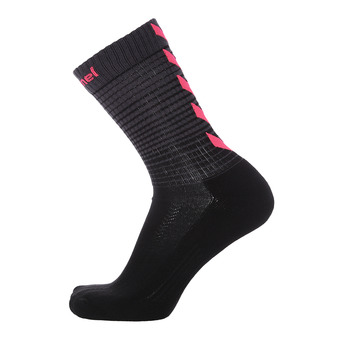 Chaussettes femme GRADIENT noir/rose diva
