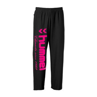 Hummel UH - Pantaloni tuta Donna nero/rosa fluo