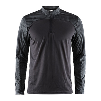 Camiseta hombre EAZE negro/negro jaspeado