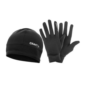 Lot bonnet et gant HYBRID PACK noir
