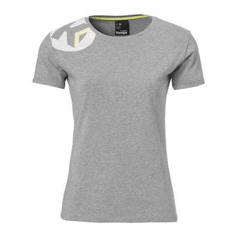 Camiseta mujer CORE 2.0 gris oscuro jaspeado