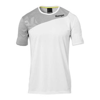 Camiseta hombre CORE 2.0 blanco/gris oscuro jaspeado
