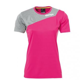 Kempa CORE 2.0 - Camiseta mujer magenta/dark grey heather