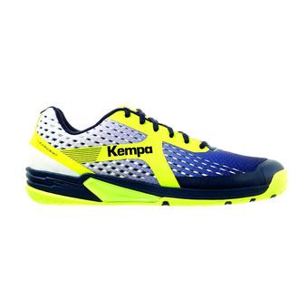 Chaussures handball homme WING bleu marine/blanc/jaune