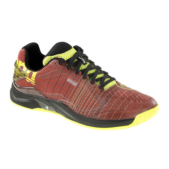 Kempa ATTACK TWO CONTENDER - Zapatillas de balonmano hombre red tomate/black/yellow fluo