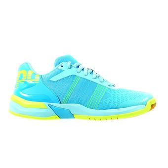 Chaussures handball femme ATTACK CONTENDER cyan/bleu ciel clair/jaune