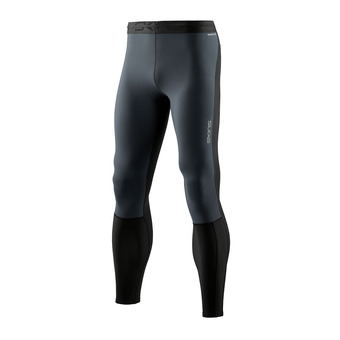 SKINS DNAmic Thermal Windproof Mens Long Tights Black/Charcoal Homme Black/Charcoal