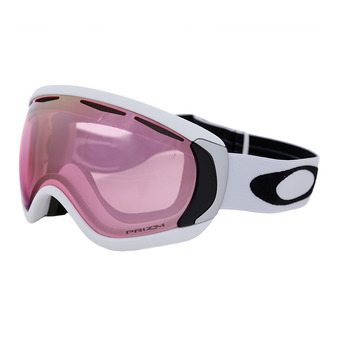 Oakley CANOPY - Gafas de esquí matte white/prizm hi pink iridium