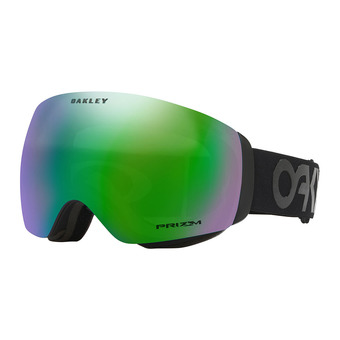 Oakley FLIGHT DECK XM - Masque ski factory pilot blackout/prizm jade iridium
