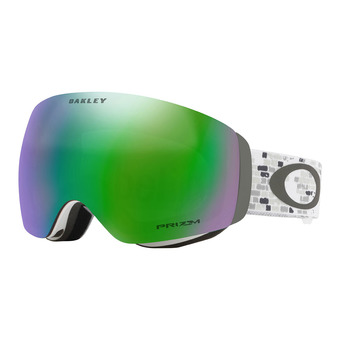 Oakley FLIGHT DECK XM - Masque ski lv sig snowed in stealth/prizm snow jade iridium