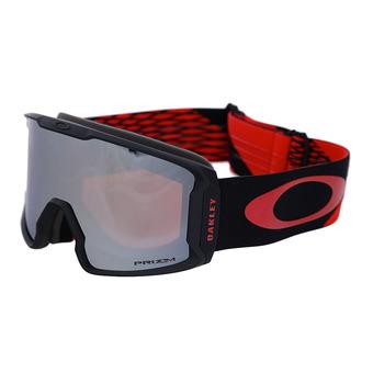 Oakley LINE MINER - Gafas de esquí harlaut sig shredbot red black/prizm snow black iridium