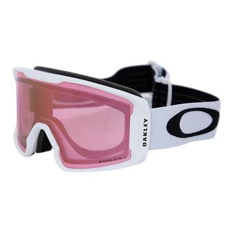 Oakley LINE MINER XM - Gafas de esquí matte white/prizm snow hi pink iridium