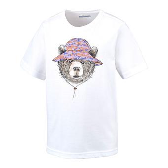 Tee-shirt MC junior HIKE THE HILLS white