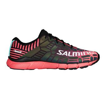 Zapatillas de running mujer SPEED 6 negro/coral