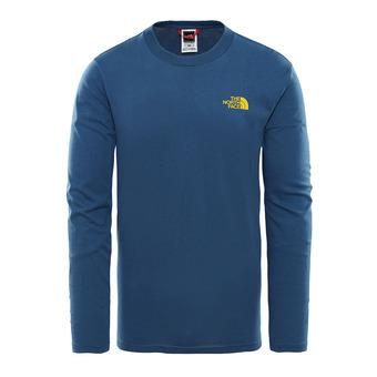 Camiseta hombre EASY shady blue/leopard yellow