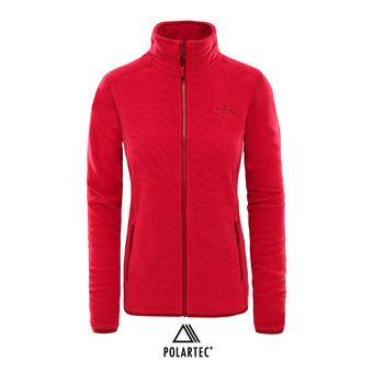 Chaqueta Polartec® mujer 100 GLACIER rumba red/cerise pink stripe