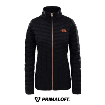 The North Face THERMOBALL - Anorak mujer tfn black/metalic copper