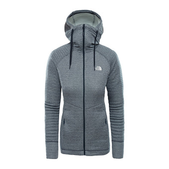 Sweat à capuche zippé femme HIKESTELLER urban navy/tin grey