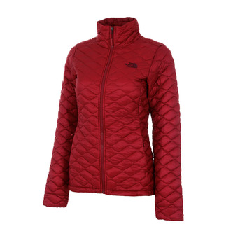 The North Face THERMOBALL - Anorak mujer rumba red
