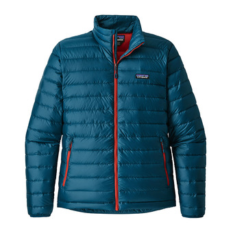 Anorak hombre DOWN SWEATER big sur blue/fire red