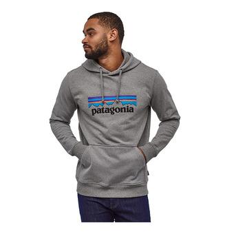 Patagonia P-6 LOGO UPRISAL - Sweatshirt - Men's - gravel heather