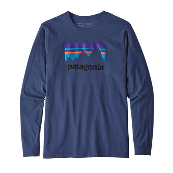 Camiseta hombre SHOP STICKER RESPONSABILI-TEE dolomite blue