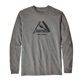 Patagonia LIVE SIMPLY POCKETKNIF RESPONSABILI-TEE - Camiseta hombre gravel heather
