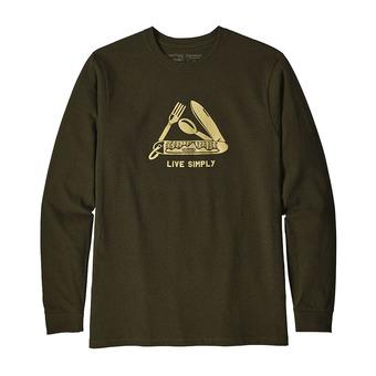 Camiseta hombre LIVE SIMPLY POCKETKNIF RESPONSABILI-TEE sediment