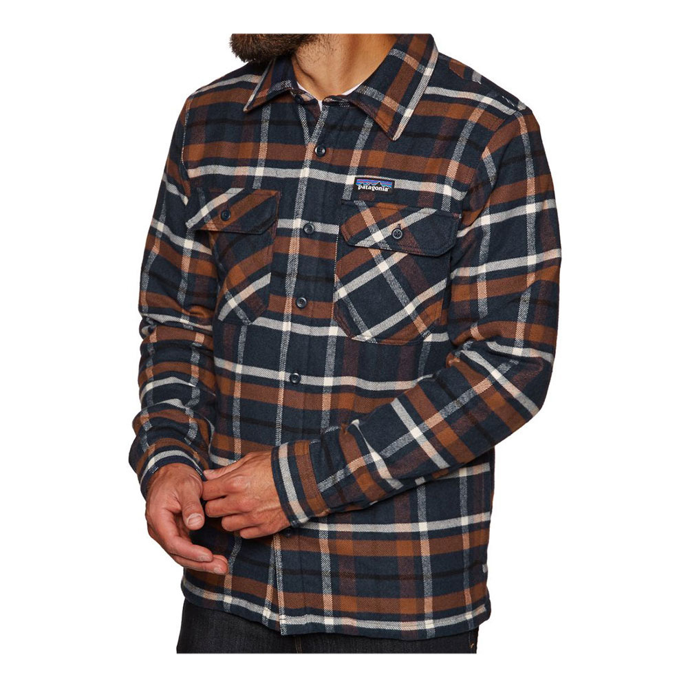 83cfdd5e87d M s Insulated Fjord Flannel Jkt Homme Tom s Place  Navy Blue ...