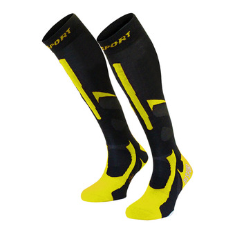 Bv Sport SLIDE PRO EVO - Calcetines black/yellow
