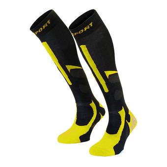 Bv Sport SLIDE PRO EVO - Calze nero/giallo