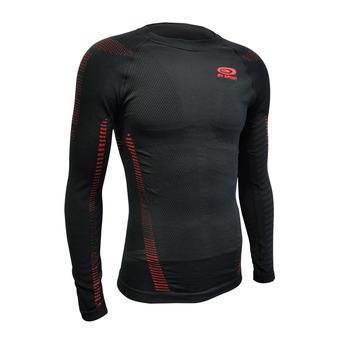 Bv Sport RTECH - Maillot Homme noir/rouge