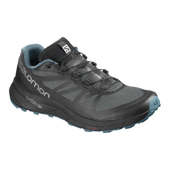 Salomon SENSE RIDE NOCTURNE - Trail Shoes - Men's - bl/mallard bl