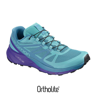 Zapatillas trail mujer SENSE RIDE blue bird/deep blue/bk