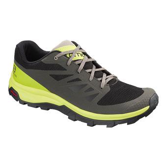 Salomon OUTLINE - Chaussures randonnée Homme beluga/lime green/vintage
