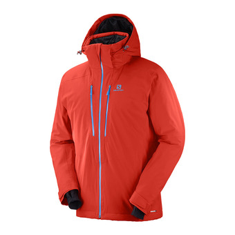Salomon ICEFROST - Veste ski Homme fiery red