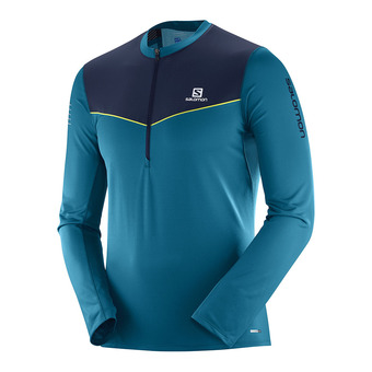 Maillot ML 1/2 zip homme FAST WING HZ deep lago